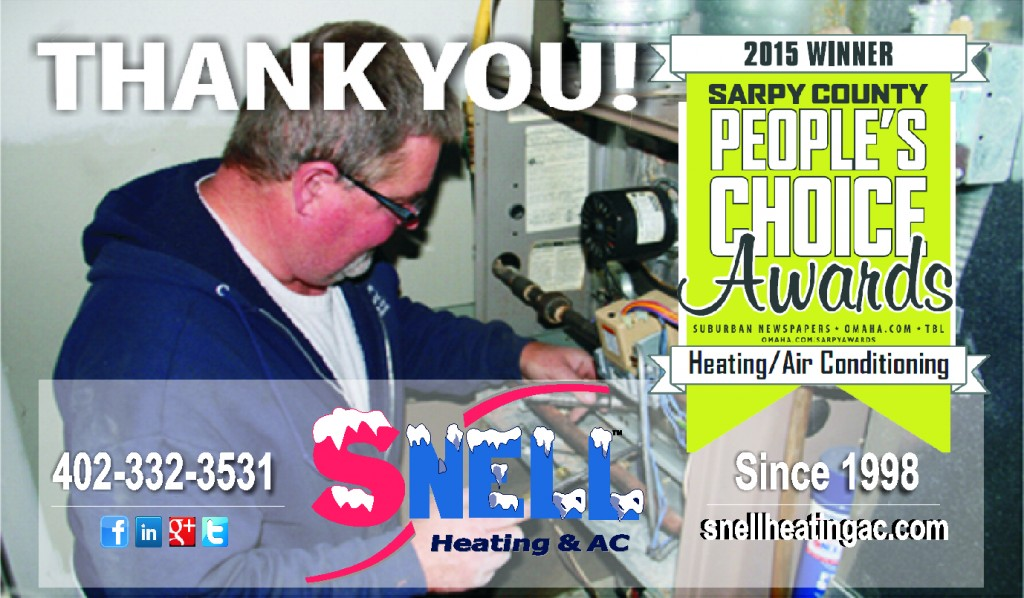 Snell Heating Amp Ac Wins Sarpy County People S Choice Award