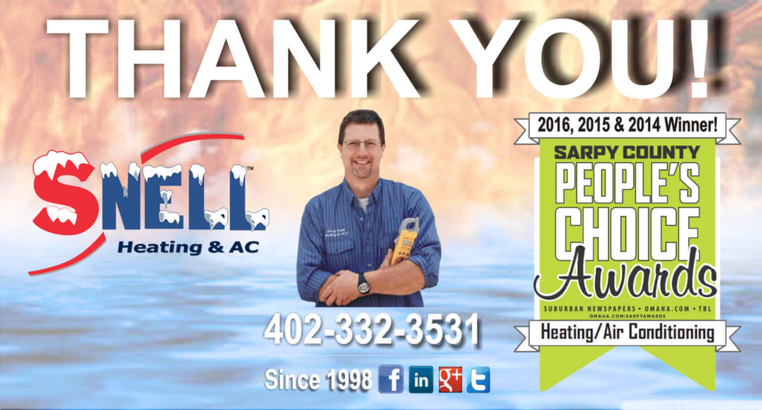 Thank You Snell Heating And Ac Sarpy County S People